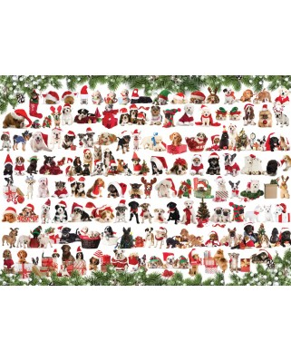 Puzzle Eurographics - Holiday Dogs, 1000 piese (6000-0939)