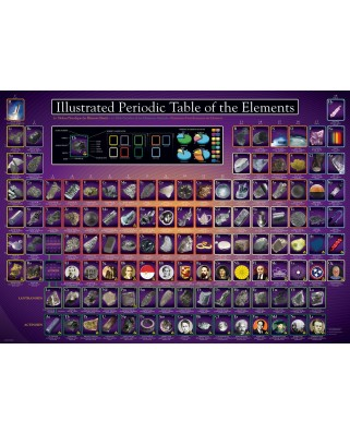 Puzzle Eurographics - Illustrated Periodic Table of the Elements, 1000 piese (6000-0258)