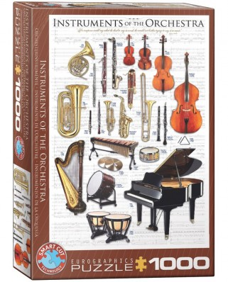 Puzzle Eurographics - Instruments of the Orchestra, 1000 piese (6000-1410)