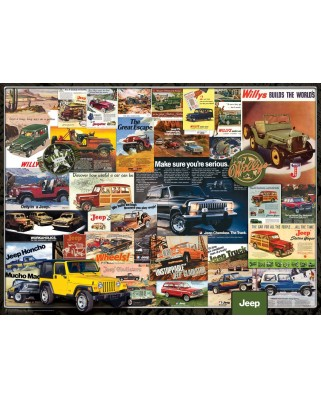 Puzzle Eurographics - Jeep Vintage Posters, 1.000 piese (6000-0758)