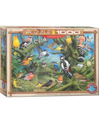 Puzzle Eurographics - Joahn Francis: Garden Birds, 1000 piese (6000-0967)