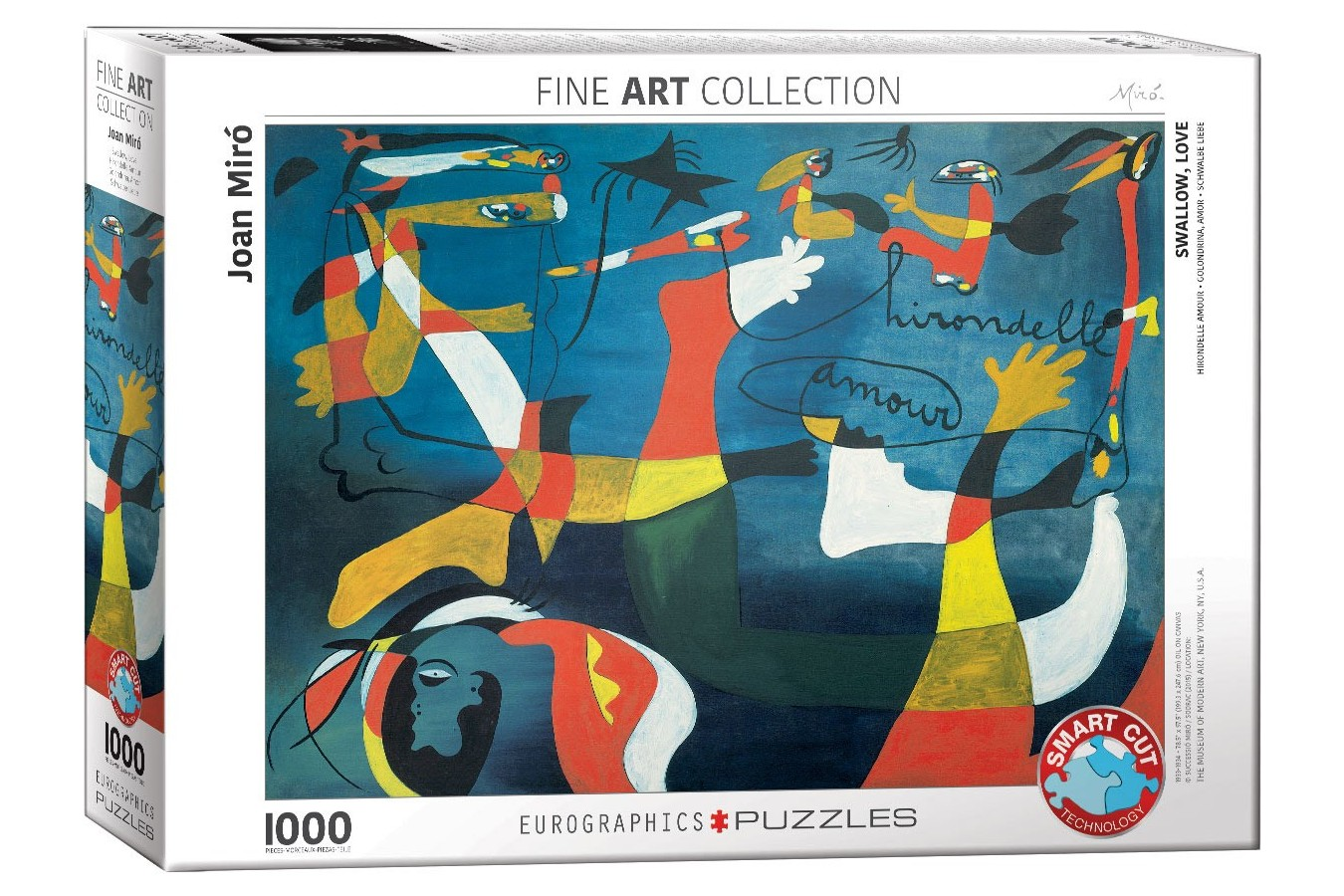 Puzzle Eurographics - Joan Miro: Hirondelle Amour, 1000 piese (6000-0859)