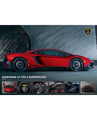 Puzzle Eurographics - Lamborghini Aventador 750-4 SV, 1000 piese (6000-0871)