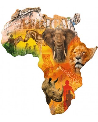 Puzzle Ravensburger - Contur Continentul Africa, 1.114 piese (16157)