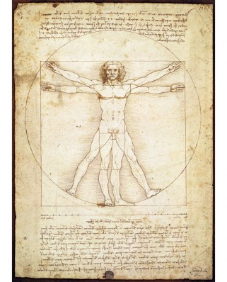 Puzzle Eurographics - Leonardo Da Vinci: Vitruvian Man, 1.000 piese (6000-5098)