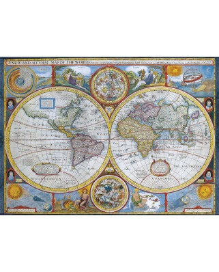 Puzzle Eurographics - Map of the ancient world, 1.000 piese (6000-2006)