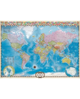 Puzzle Eurographics - Map of the World, 1.000 piese (6000-0557)