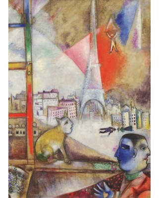 Puzzle Eurographics - Marc Chagall: Paris Through the Window (Detail), 1.000 piese (6000-0853)