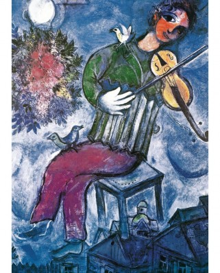 Puzzle Eurographics - Marc Chagall: The Blue Violinist, 1.000 piese (6000-0852)