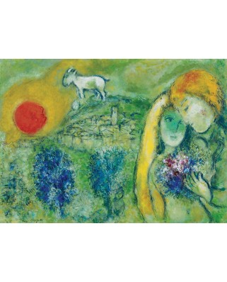 Puzzle Eurographics - Marc Chagall: The Lovers of Vence, 1.000 piese (6000-0848)