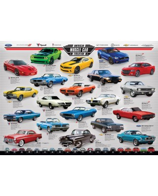 Puzzle Eurographics - Muscle Car Evolution, 1000 piese (6000-0682)