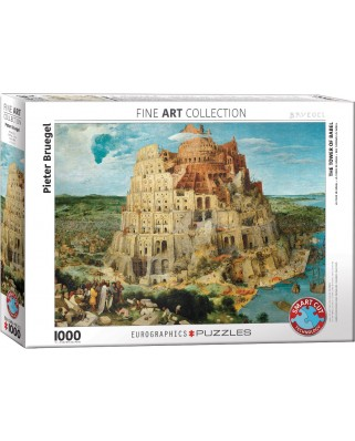 Puzzle Eurographics - Pieter Bruegel: The Tower of Babel, 1000 piese (6000-0837)