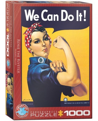 Puzzle Eurographics - Rosie the Riveter: We Can Do It!, 1000 piese (6000-1292)