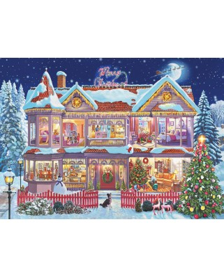 Puzzle Eurographics - Steve Crisp: Getting Ready Christmas, 1000 piese (6000-0973)