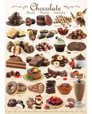 Puzzle Eurographics - Sweet Line - Chocolate, 1000 piese (6000-0411)