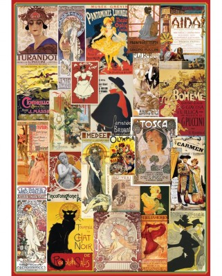 Puzzle Eurographics - Theater & Opera Vintage Posters, 1000 piese (6000-0935)