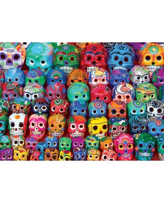 Puzzle Eurographics - Traditional Mexican Skulls, 1.000 piese (6000-5316)