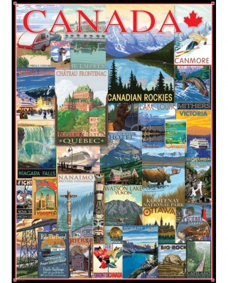 Puzzle Eurographics - Travel Canada Vintage Posters, 1.000 piese (6000-0778)