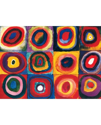 Puzzle Eurographics - Vassily Kandinsky: Farbstudie Quadrate (c.1913), 1000 piese (6000-1323)