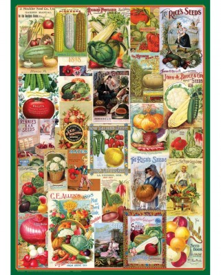 Puzzle Eurographics - Vegetables Seed Catalogue, 1000 piese (6000-0817)