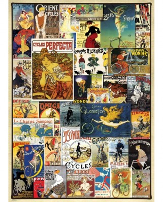 Puzzle Eurographics - Vintage Bicycle Posters, 1000 piese (6000-0756)