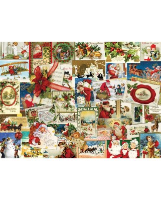 Puzzle Eurographics - Vintage Christmas Cards, 1000 piese (6000-0784)