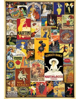 Puzzle Eurographics - Vintage Posters, 1.000 piese (6000-0769)