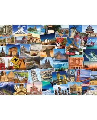 Puzzle Eurographics - World Globetrotter, 1000 piese (6000-0751)