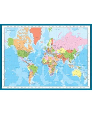 Puzzle Eurographics - World Map, 1.000 piese (6000-1271)