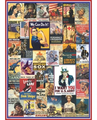 Puzzle Eurographics - World War I & II Vintage Posters, 1000 piese (6000-0937)