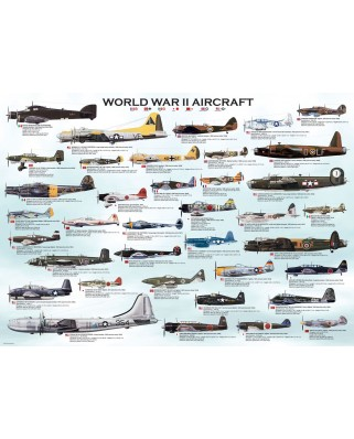 Puzzle Eurographics - World War II Aircrafts, 1000 piese (6000-0075)