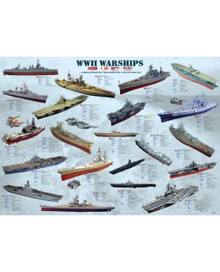 Puzzle Eurographics - World War II Warships, 1.000 piese (6000-0133)