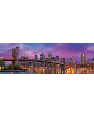 Puzzle panoramic Eurographics - Brooklyn Bridge, New York, 1.000 piese (6010-5301)