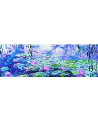Puzzle panoramic Eurographics - Claude Monet: Waterlillies, 1.000 piese (6010-4366)