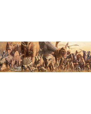 Puzzle panoramic Eurographics - Haruo Takino: Dinosaurs, 1000 piese (6010-4650)