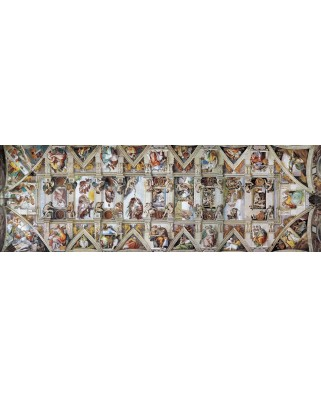 Puzzle panoramic Eurographics - Michelangelo Buonarroti: The Sistine Chapel Ceiling, 1.000 piese (6010-0960)