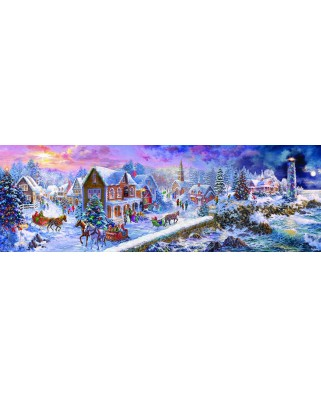 Puzzle panoramic Eurographics - Nicky Boehme: Holiday at the Seaside, 1000 piese (6010-5318)