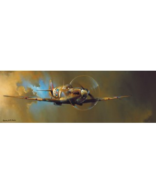 Puzzle panoramic Eurographics - Spitfire by Barrie A.F. Clark, 1000 piese (6010-0952)