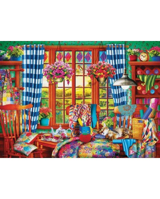 Puzzle Eurographics - Patchwork Craft Room, 1000 piese (6000-5348)