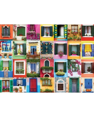 Puzzle Eurographics - Mediterranean Windows, 1.000 piese (6000-5350)