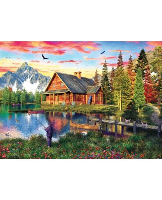 Puzzle Eurographics - Dominic Davison: The Fishing Cabin, 1.000 piese (6000-5376)