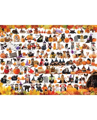 Puzzle Eurographics - Halloween Puppies and Kittens, 1.000 piese (6000-5416)