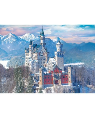 Puzzle Eurographics - Neuschwanstein in Winter, Germany, 1.000 piese (6000-5419)