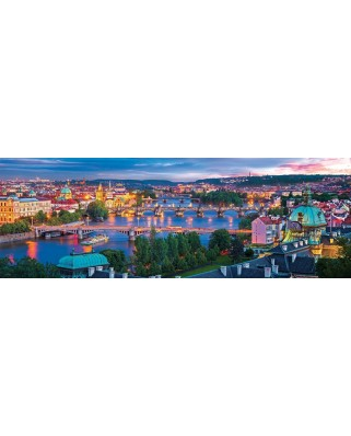 Puzzle panoramic Eurographics - Prague Czech Republic, 1.000 piese (6010-5372)