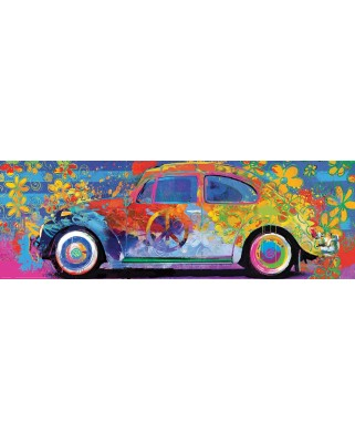 Puzzle panoramic Eurographics - VW Beetle - Splash Pano, 1.000 piese (6010-5441)