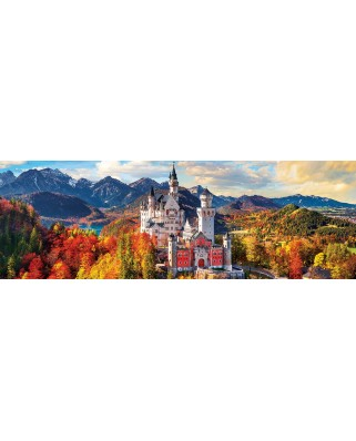 Puzzle panoramic Eurographics - Neuschwanstein in Fall, 1.000 piese (6010-5444)