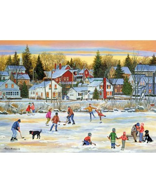 Puzzle Eurographics - Evening Skating, 1.000 piese (6000-5439)