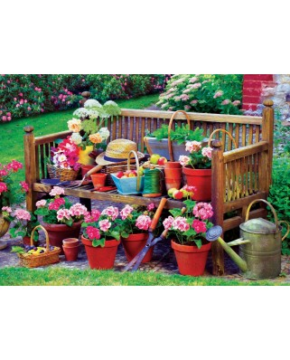 Puzzle Eurographics - Garden Bench, 1.000 piese (6000-5345)