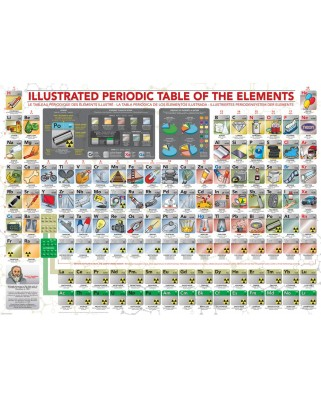 Puzzle Eurographics - Illustrated Periodic Table of The Elements, 500 piese XXL (6500-5355)