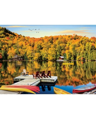 Puzzle Eurographics - Lakeside Cottage Quebec, 1.000 piese (6000-5427)